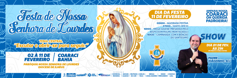 Convite – Festa de Nossa Senhora de Lourdes